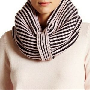 Kate Spade Plaited Ribbed Neck Warmer Pink NWT